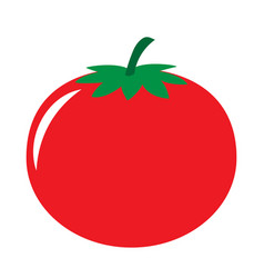 red tomato icon vector image