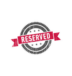 reserved stamp seal label logo vector image