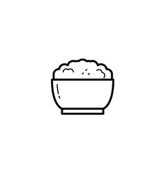 rice food icon vector image