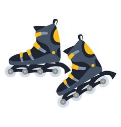 Roller skates flat vector