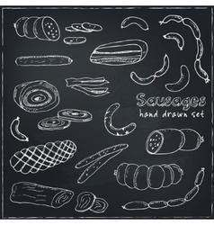 Sausages set Hand drawn vector