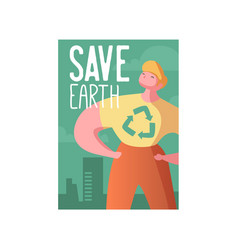 Save the earth poster banner advertising flyer vector