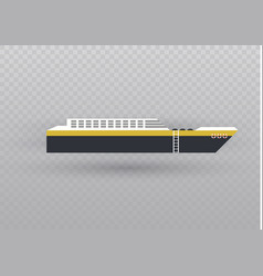 sea or ocean cruise concept in flat style vector image