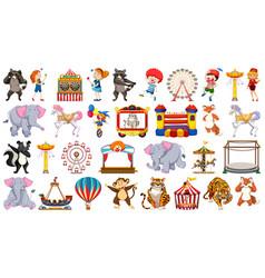 set circus character vector image