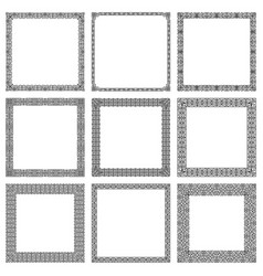 set square frames in traditional east style vector image