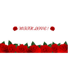 seven red roses vector image