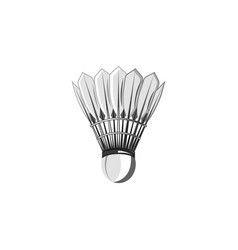 shuttlecock for badminton isolated object on white vector image