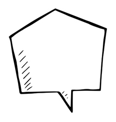 Sketchy speech bubble doodle isolated vector