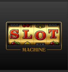 Slot machine casino advertising design element vector