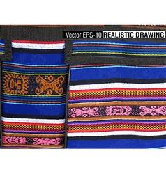 South America Indian woven fabrics vector
