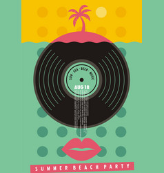 summer beach party colorful invitation design vector image
