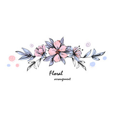 tender floral arrangement pink apple tree flowers vector image