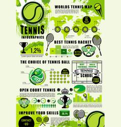 Tennis infographics sport games statistics vector