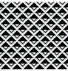 Tribal aztec abstract squares seamless pattern vector image