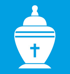 Urn icon white vector