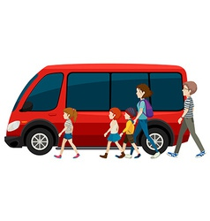 Van and family vector