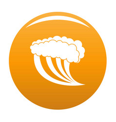 wave water blue icon orange vector image
