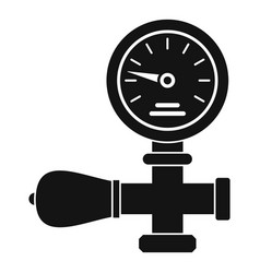 welding gas pressure monitor icon simple style vector image