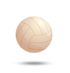 white volleyball ball isolated on white background vector image