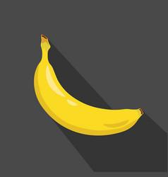 banana cartoon flat icondark background vector image