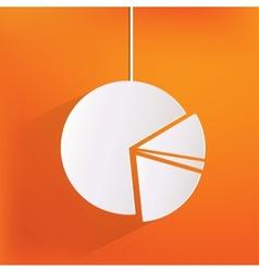 circular diagram web icon vector image