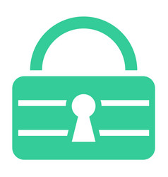 Flat padlock safe icon lock sign password button vector
