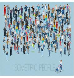 Isometric people crowd vector