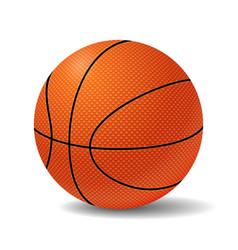 Realistic Basketball Ball vector image