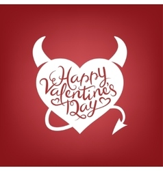Valentines day lettering background Vintage vector image