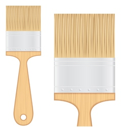 Wooden brush vector image vector image