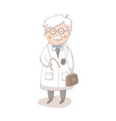 Cartoon of doctor vector image