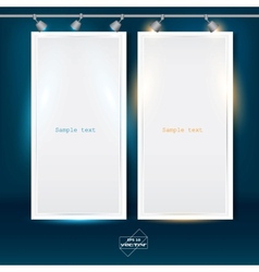 Empty banner for product advertising with lighting vector image