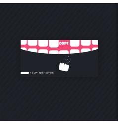 modern simple light business card template vector image