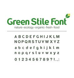 modern typeface universal font food vector image