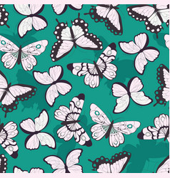 Seamless pattern with colorful butterflies vector