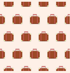 Seamless pattern with cute suitcases vector