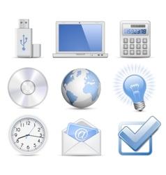 universal web icon set vector image