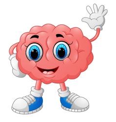 Brain cartoon vector image