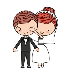cute Married couple isolated icon design vector image