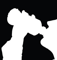 drinking from the bottle vector image vector image