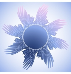 Graphic design with wings vector image