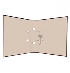 realistic illustration of open folder vector image vector image