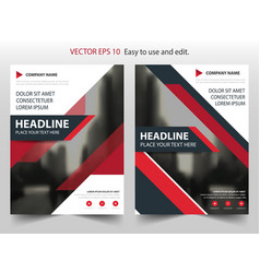 red black annual report brochure flyer design vector image vector image