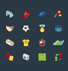 soccer element color icon set vector image