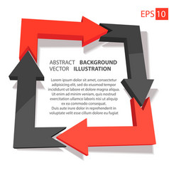 business infographic 3d abstract background vector image vector image