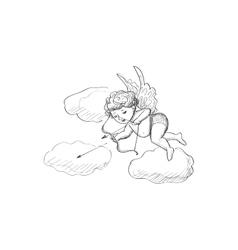 Doodle Cupid vector image