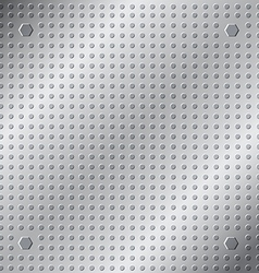 emboss texture pattern on metal background vector image