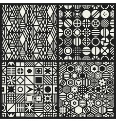 Geometric seamless patterns set vector image vector image