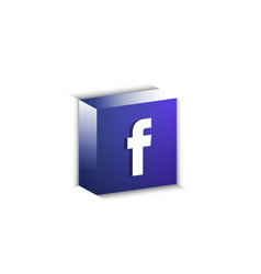 3d facebook button vector