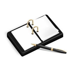 A pencil and a notebook vector